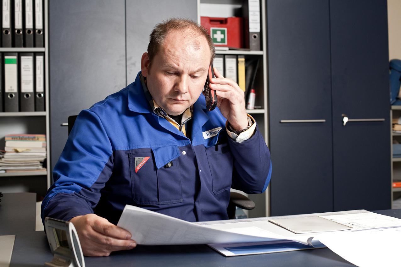 Harald Wiegand, Betriebsleiter in der Schalker Eisenhütte.